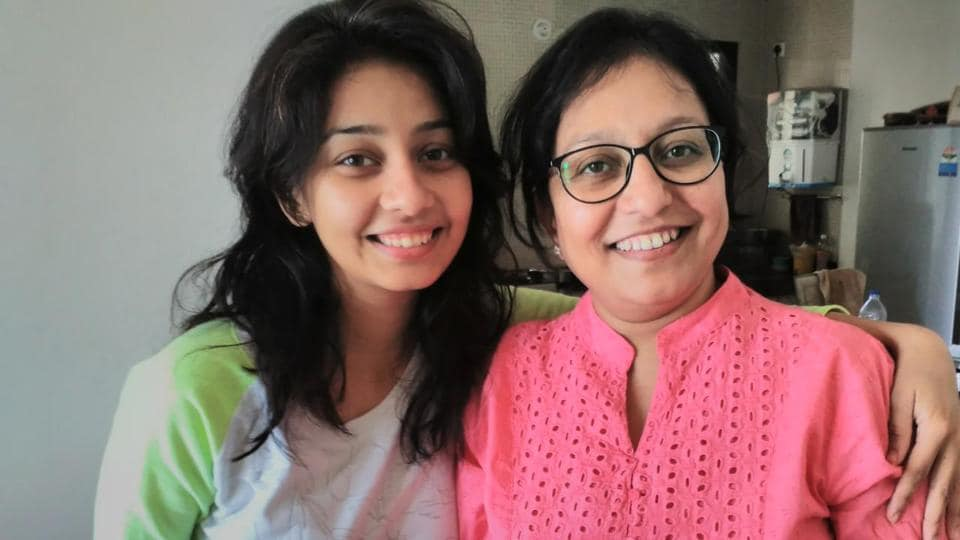 Rupal from Marathi serial Goth with her mom Vishakha Nand on the occasion of Mother's Day