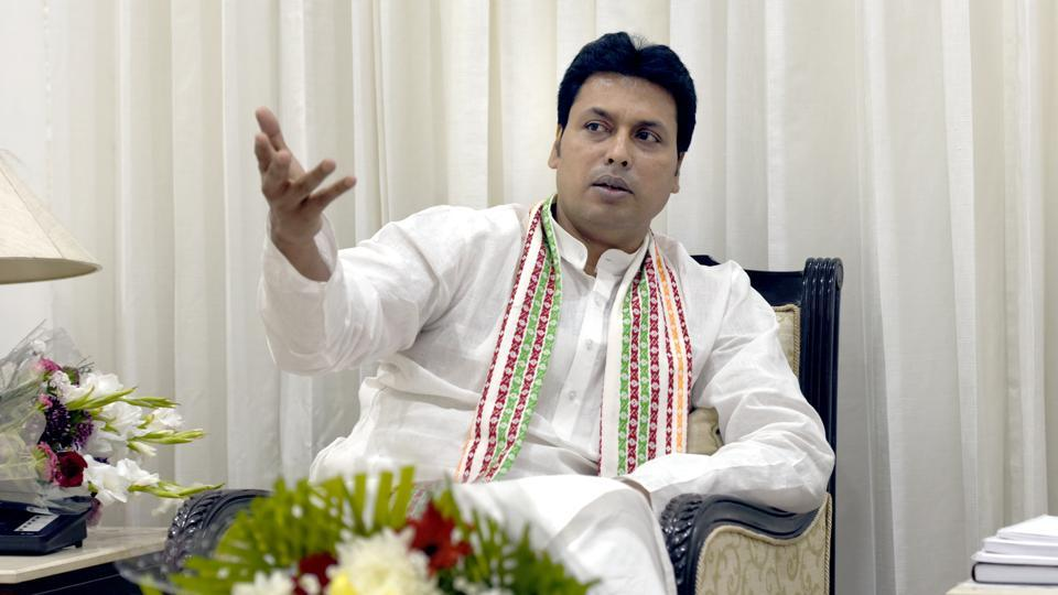 Tripura chief minister Biplab Kumar Deb on Wednesday said that famous Indian poet Rabindranath Tagore refused the Nobel Prize in protest against the British, inviting controversy through contentious statements for probably the fifth time since he assumed charge of the state two months ago. (Sushil Kumar / HT File)