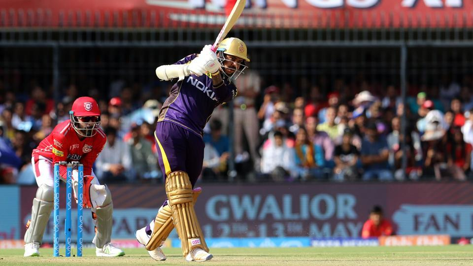 Sunil Narine, 75 off 36 balls, was the top-scorer for Kolkata Knight Riders. (BCCI)