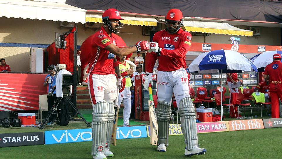 Kings XI PUnjab hoped KL Rahul and Chris Gayle to give them a good start in the massive chase. (BCCI)