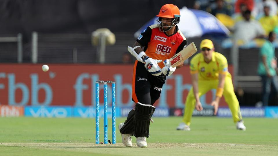 Shikhar Dhawan gave a brilliant start to Sunrisers Hyderabad, top-scoring with 79 which also included ten boundaries and three sixes. (BCCI)
