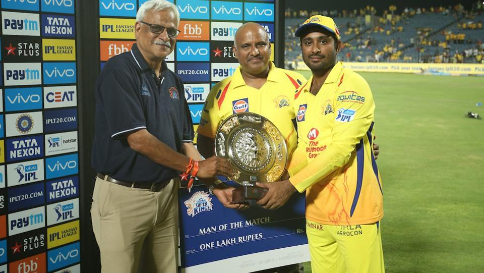 Expectedly Ambati Rayudu was named Man of the Match for his brilliant performance. (BCCI)