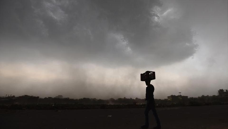 Thunderstorm and rains hit the Delhi-NCR region on Sunday.
