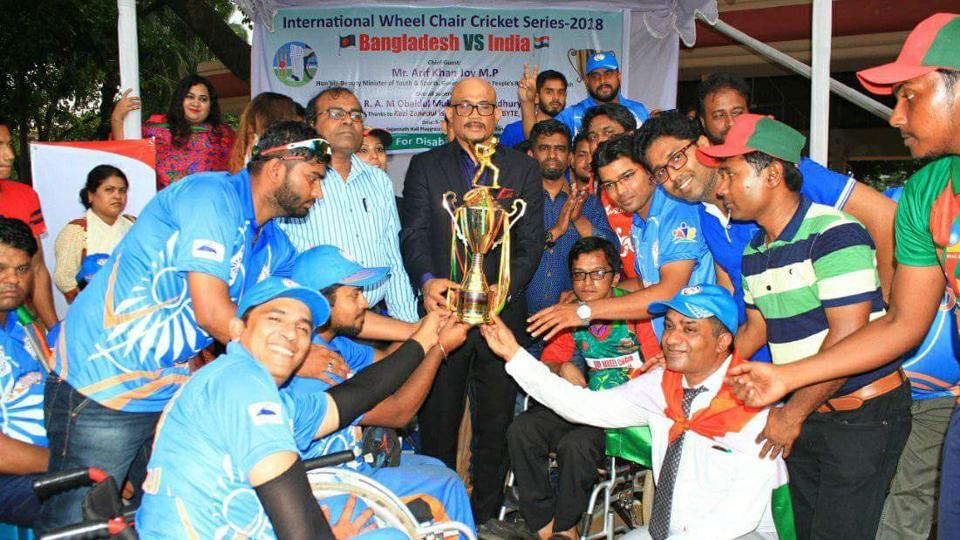 The Indian wheelchair cricket team successfully completed its first international tour of Bangladesh.