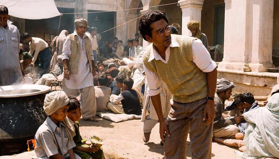 Nawazuddin Siddiqui as Saadat Hasan Manto in Nandita Das' film Manto.