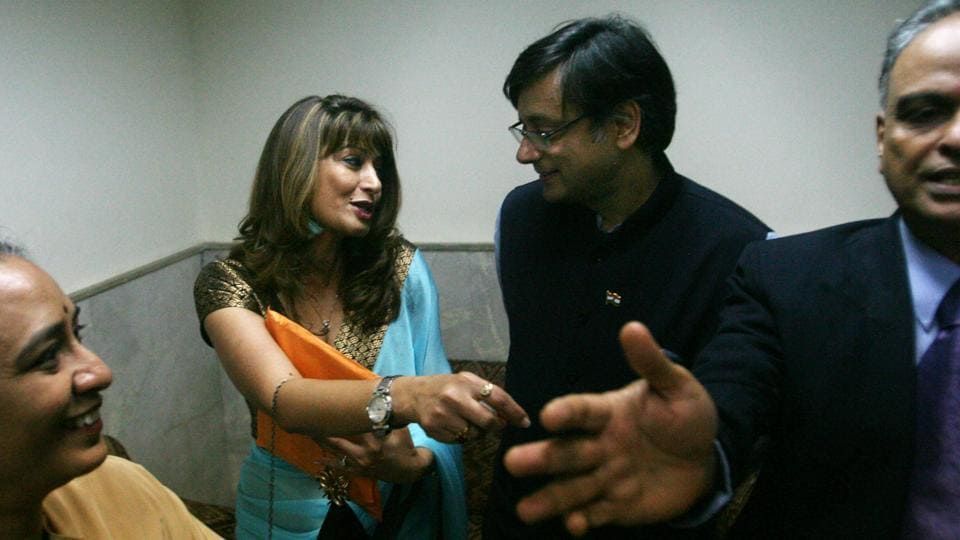 """The Delhi Police on Monday filed a chargesheet in a court in the national capital, accusing Congress leader Shashi Tharoor of abetting the suicide of his wife, Sunanda Pushkar. Tharoor, the only person who has been arrayed as an accused in the case, termed the Delhi Police's action """"unbelievable"""" and called the chargesheet """"preposterous"""". He said he will contest the 3,000 -page chargesheet """"vigorously."""" (Hemant Padalkar / HT File)"""