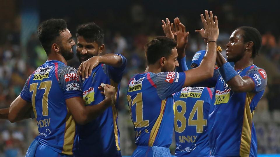 Mumbai Indians lost three wickets for 44 runs in the middle overs as Rajasthan Royals won the game by seven wickets to stay alive in the race for the play-offs.