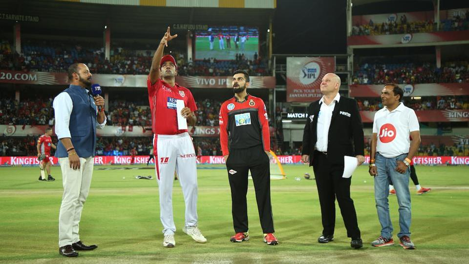 Virat Kohli won the toss and asked the Kings XI Punjab  to bat in what was the final match of IPL 2018 at the Holkar Cricket Stadium in Indore. (BCCI)