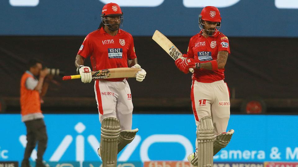 Chris Gayle KL Rahul started well for King XI Punjab hitting fours and sixes at regular intervals. (BCCI)
