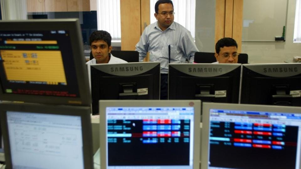 Sensex down 95 pts, Nifty below 10750 in late morning trade