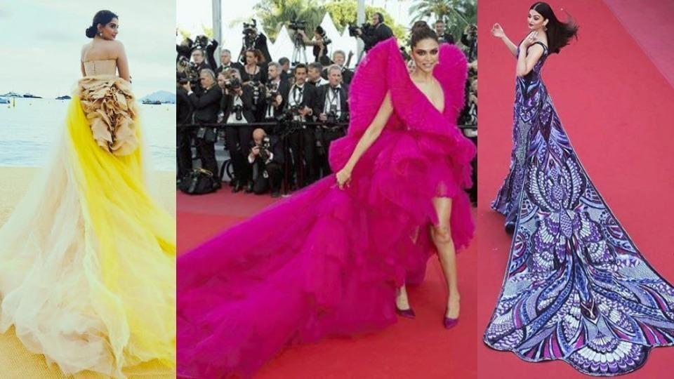 Sonam Kapoor, Deepika Padukone and Aishwarya Rai Bachchan prove trains are what turn heads on red carpets. (Instagram)