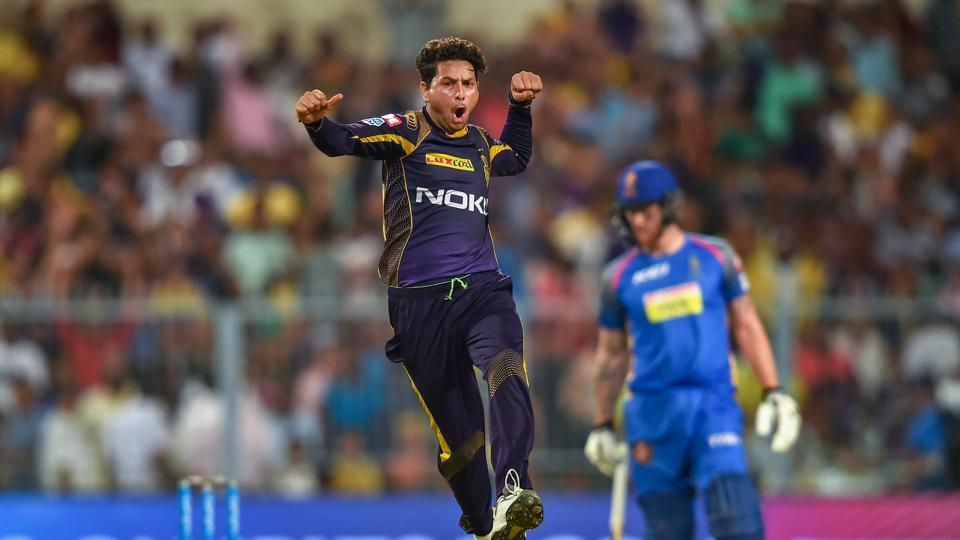 Kuldeep Yadav's 4/20 helped Kolkata Knight Riders to a six-wicket win over Rajasthan Royals and boosted their chances of entering the play-offs. (PTI)