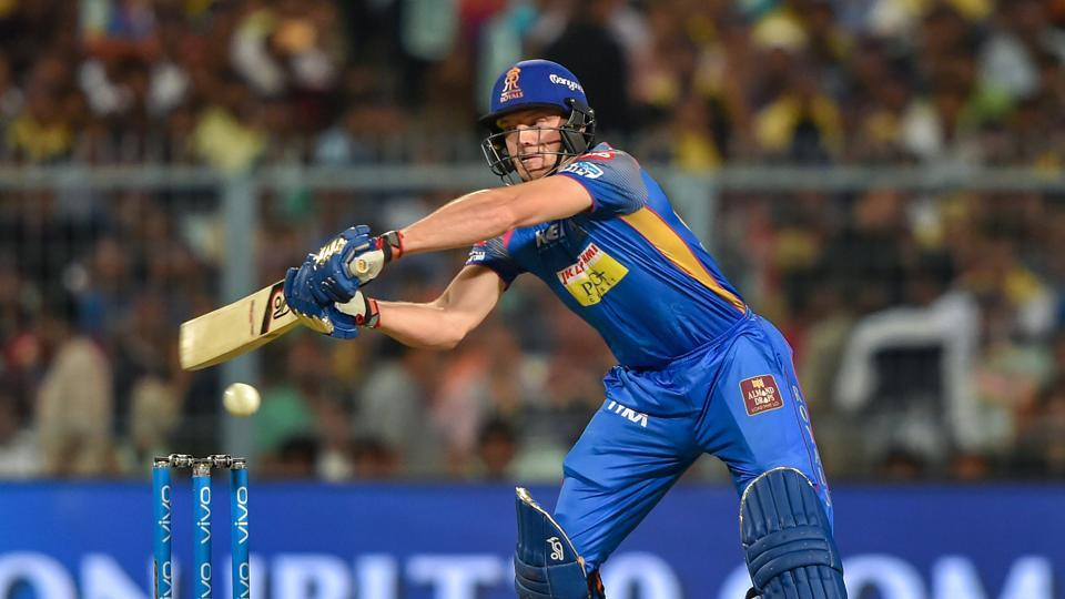 Buttler and Rahul Tripathi helped Rajasthan Royals reach 63/1 in just the fifth over as they looked on course for a big score.  (PTI)