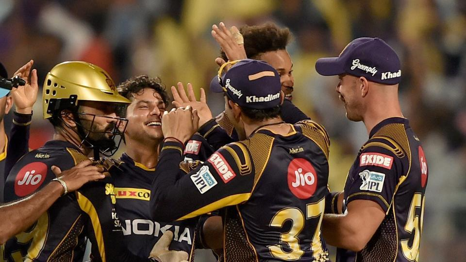 Kuldeep's haul resulted in Rajasthan Royals losing nine wickets for 79 runs as they were bowled out for 142. (PTI)