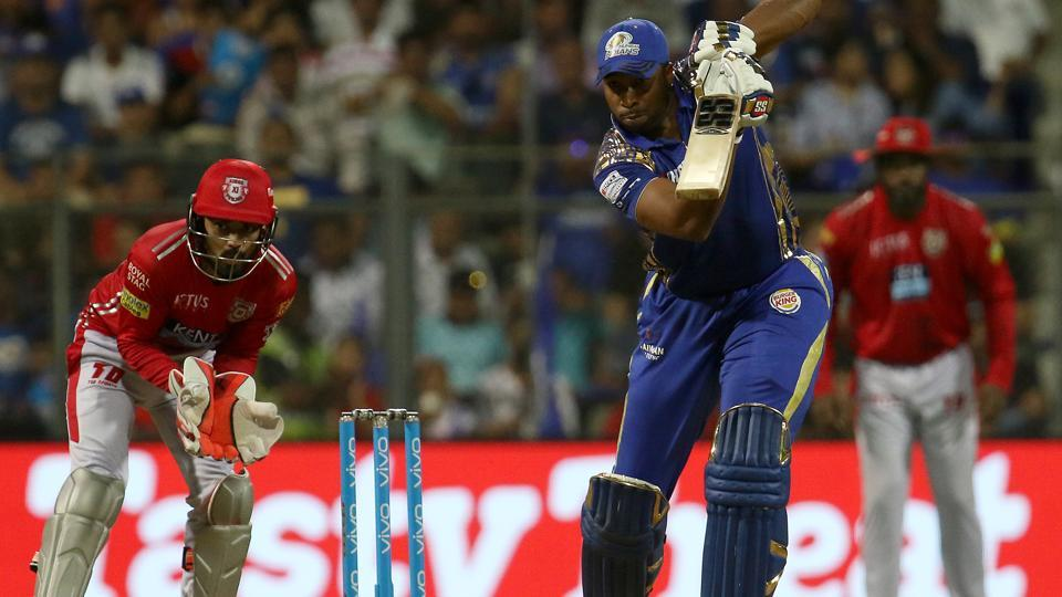 Mumbai Indians beat Kings XI Punjab by 3 runs to remain in contention for a top 4 spot in IPL. Get full cricket score of Mumbai Indians vs Kings XI Punjab, IPL 2018 match, here.