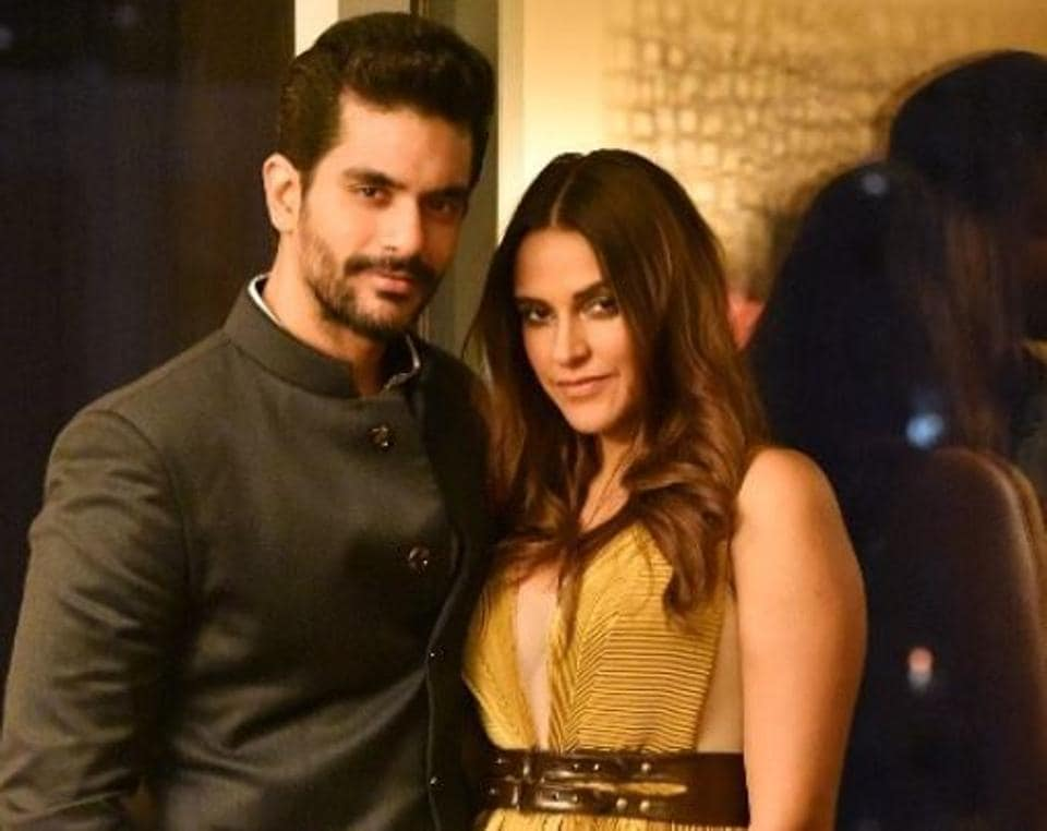 Neha Dhupia and Angad Bedi were in the US for a work trip immediately after the wedding.