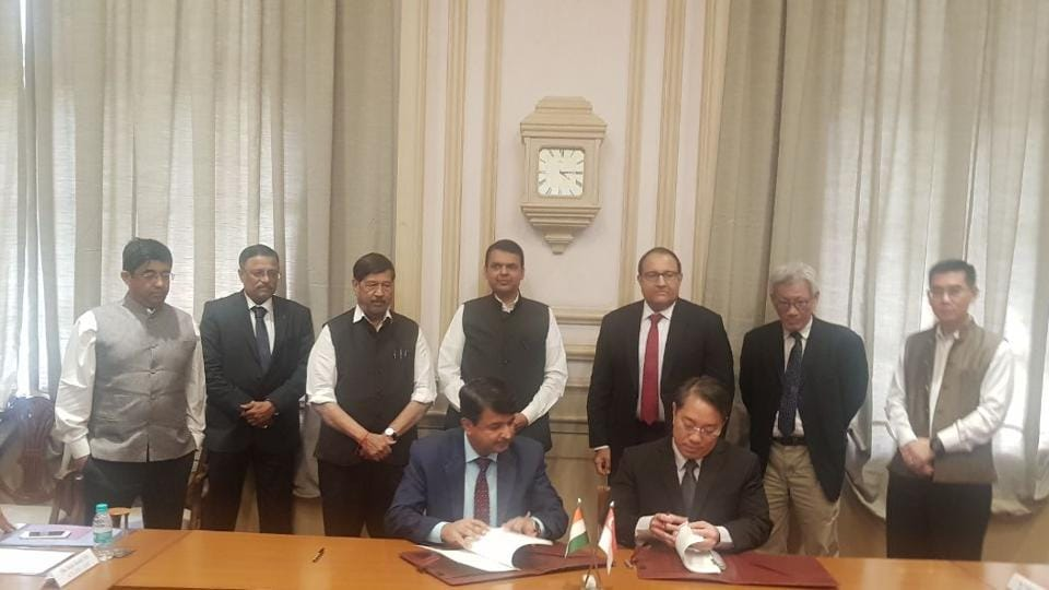 The MoU was signed in the presence of Devendra Fadnavis, Maharashtra chief minister, and S Iswaran, minister-in-charge of trade relations, government of Singapore, at the Sahyadri guest house in Mumbai on Wednesday.