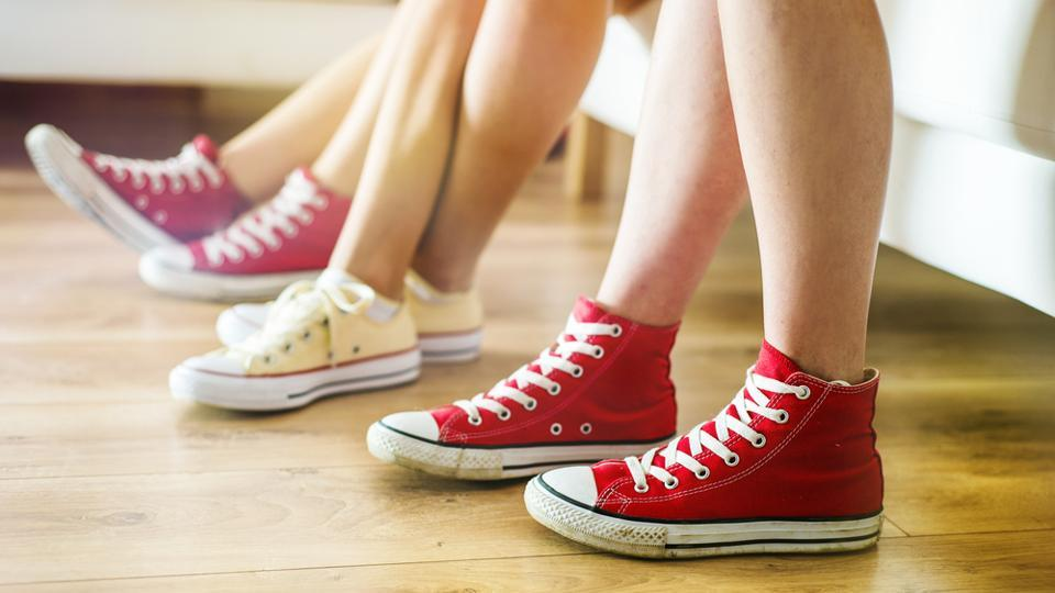 There are various ways to give a funky edge to your canvas shoes.