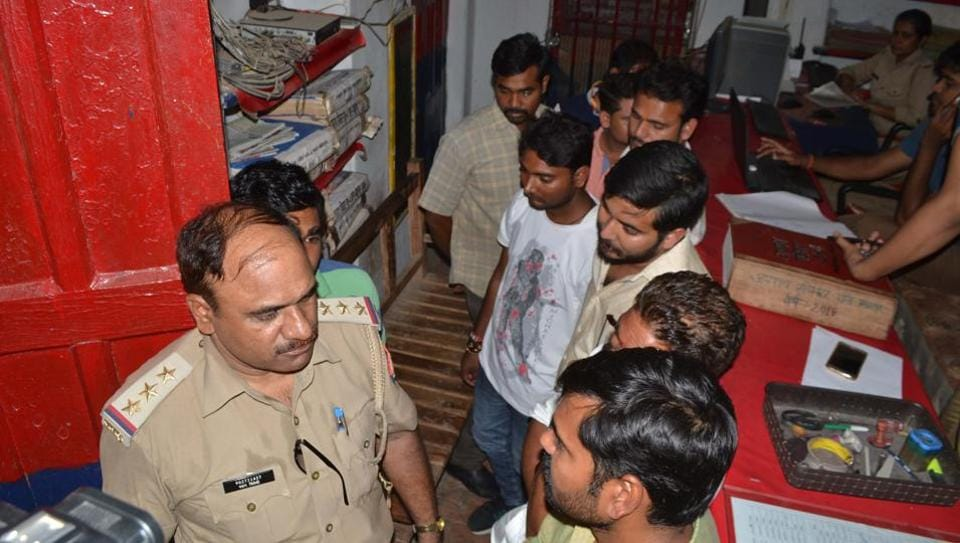 The nine youths who tried to free prime accused in DSP Zia-ul-Haq's murder while he was being escorted to Pratapgarh district court from Kaushambi Jail on Wednesday.