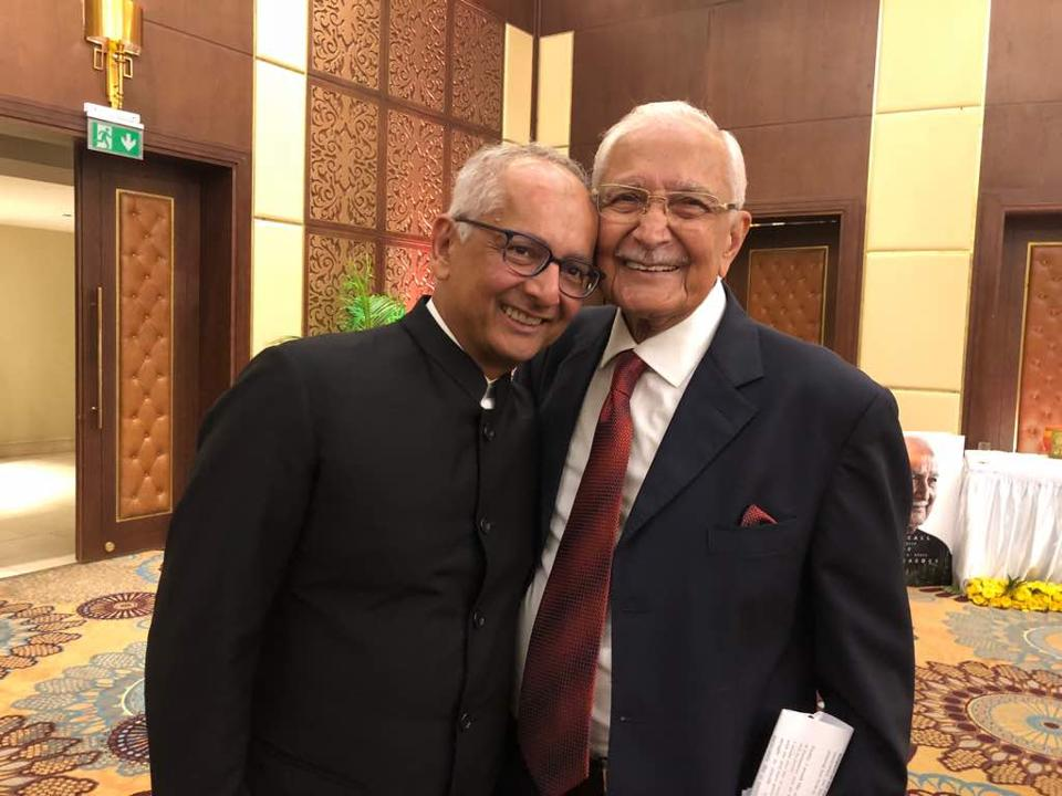 Jay Mehta with father Mahendra Mehta.