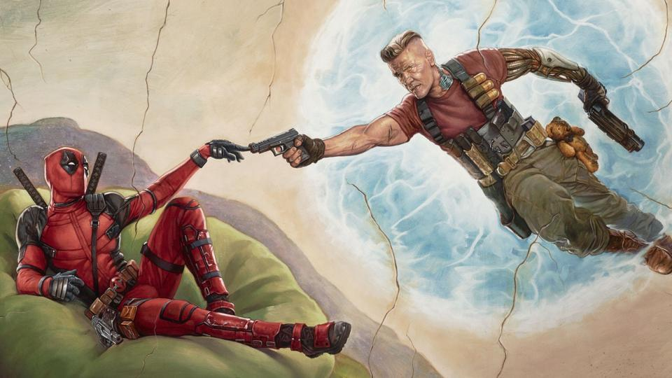 Ryan Reynolds as Deadpool and Josh Brolin as Cable in a poster for Deadpool 2.