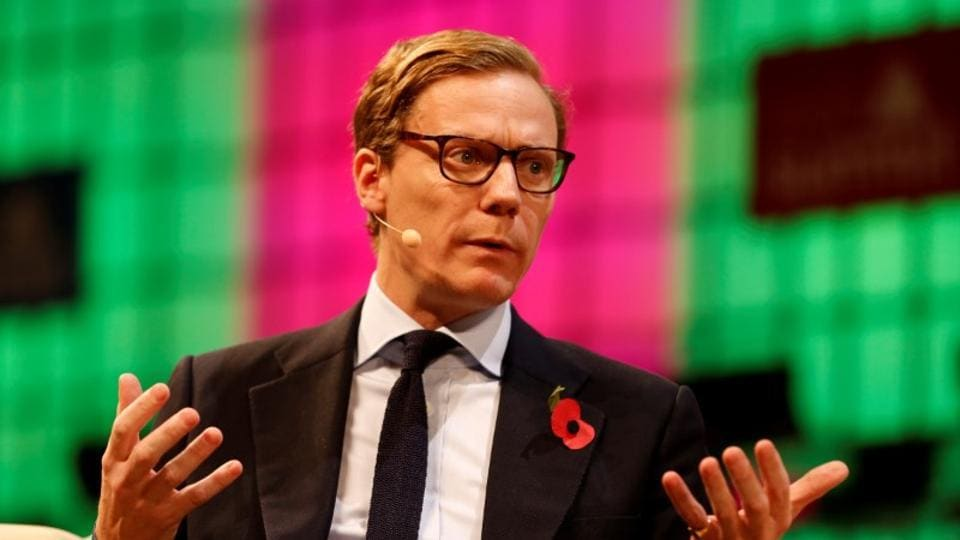CEO of Cambridge Analytica, Alexander Nix, speaks during the Web Summit, Europe's biggest tech conference, in Lisbon, Portugal, November 9, 2017.