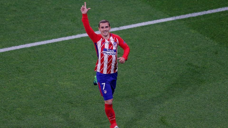 Antoine Griezmann put Atletico ahead in the 21st minute of the game.  (REUTERS)