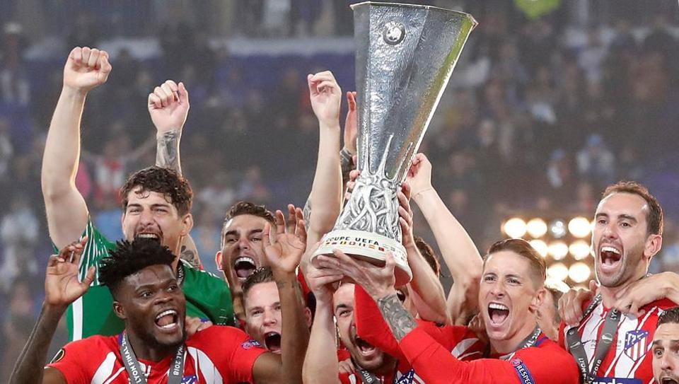 Atletico Madrid beat Olympique de Marseille 3-0 in the final of the Europa League at the Groupama Stadium, in Lyon, France on May 16, 2018.   (REUTERS)