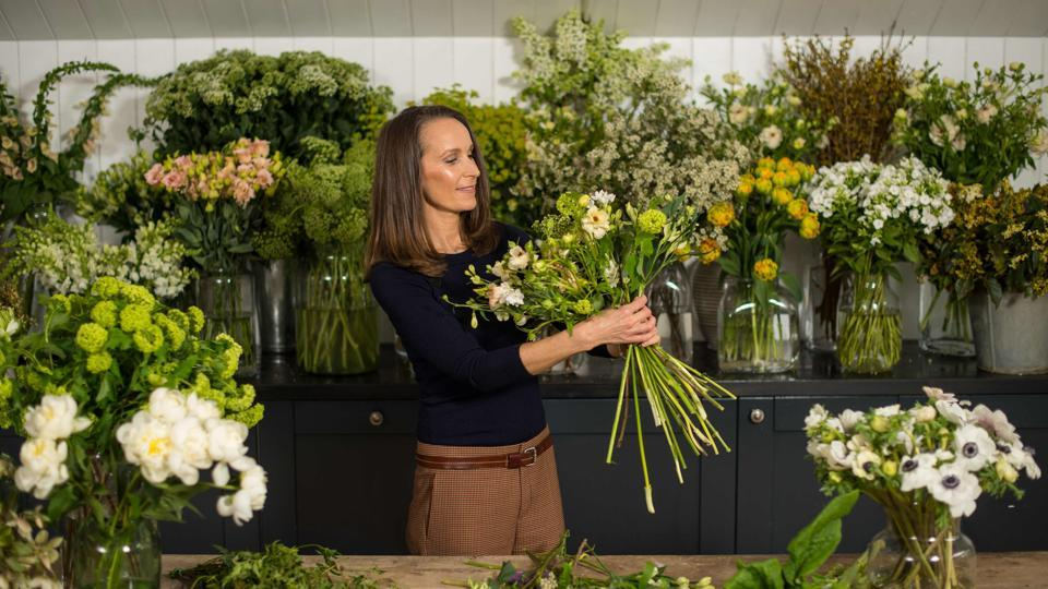 The couple chose London florist Philippa Craddock, beloved in the fashion industry, to arrange the flower decorations for their wedding. Craddock will use seasonal blooms from around Windsor to decorate the ceremony venue, including white garden roses, peonies and foxgloves. (Dominic Lipinski / AFP)