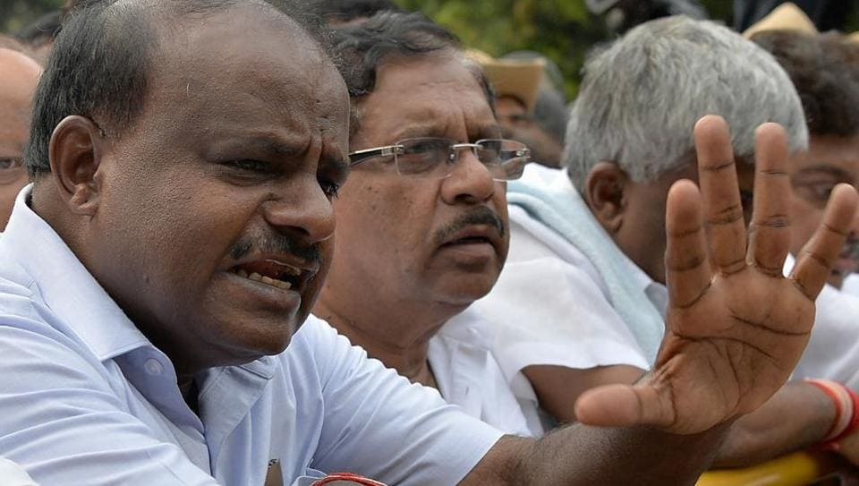 Opposition accuses BJP of murdering democracy, Congress demands Karnataka Governor recall