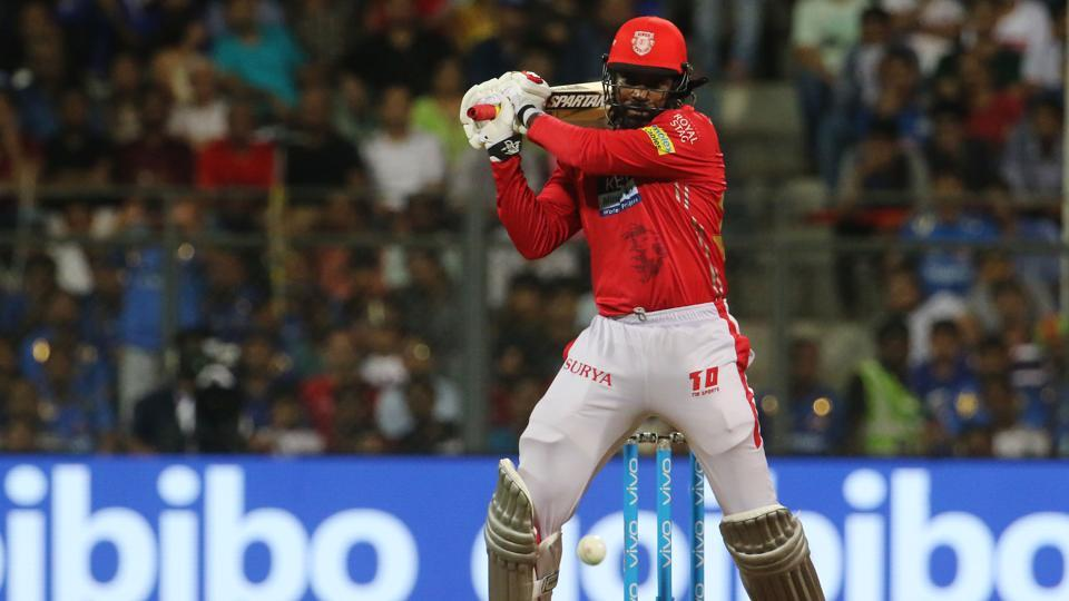 In chase, KXIP got an early shock as Mitchell McClenaghan got the wicket of Chris Gayle. (BCCI)