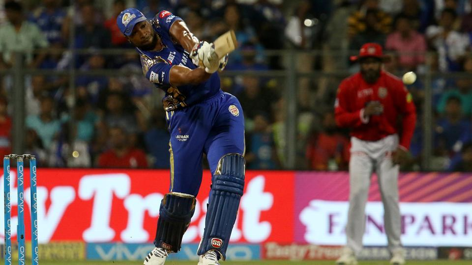 Kieron Pollard top-scored for Mumbai Indians with a 23-ball 50. (BCCI)