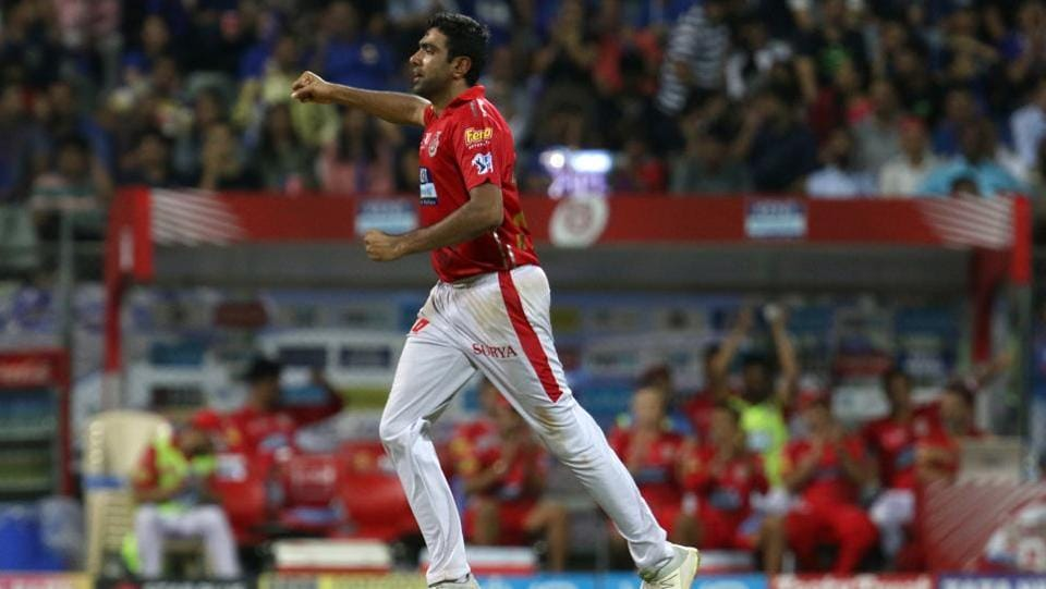 Ravichandran Ashwin got thr wickets of POllard and Ben Cutting as Mumbai Indians notched 186/8 in 20 overs. (BCCI)