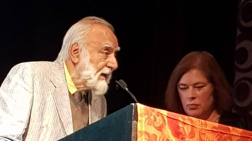 Late Khushwant Singh's son Rahul Singh at the seventh edition of the Khushwant Singh Lit-fest in London.