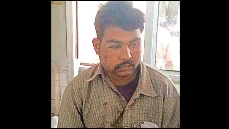 One of the injured, Bhagwan Dass, narrating the incident at the civil hospital in Pathankot on Thursday .