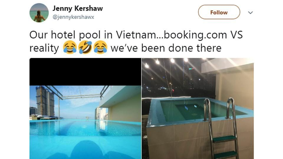 Holidaymaker's pool comparison picture goes viral