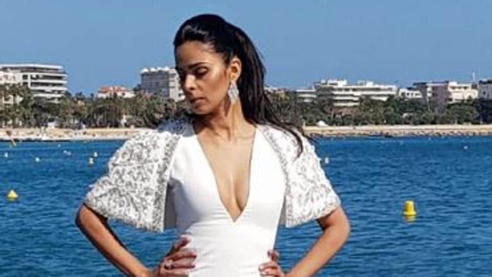 Mallika Sherawat attended the AmfAR gala that also saw the presence of Pierce Brosnan, Jason Derulo and Michelle Rodriguez.