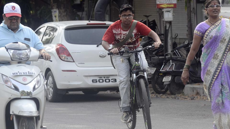 Pune cyclists,safety