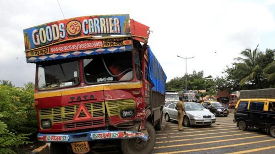 The accident took place at 5 am at Bichai. The dumper truck driver fled after the accident.