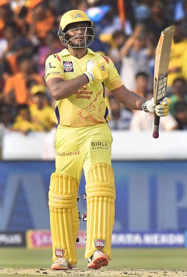 Chennai Super Kings' Ambati struck his third fifty in IPL 2018.