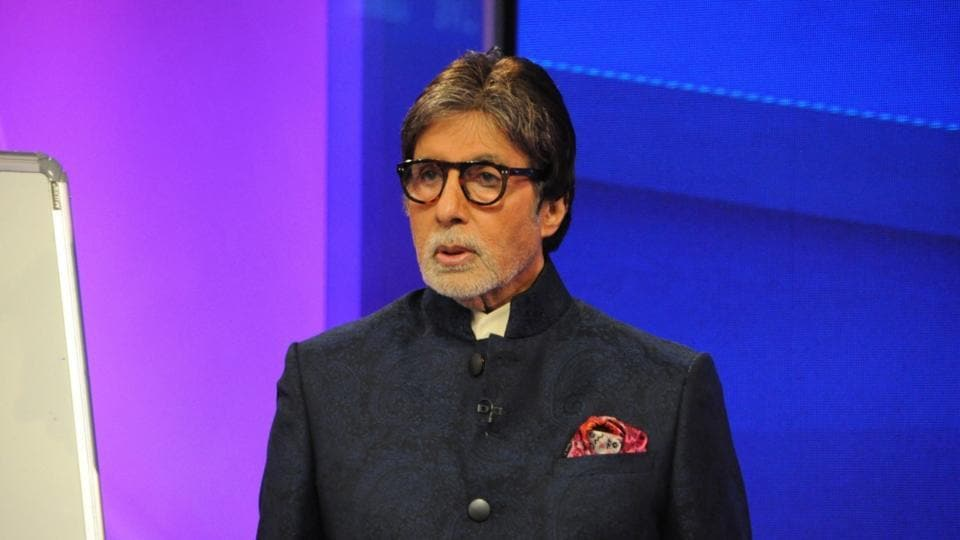 Amitabh Bachchan at a promotional event.