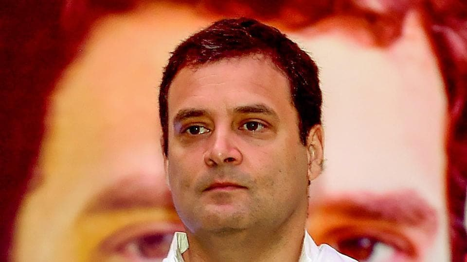 Congress President Rahul Gandhi during a press meet, in Bengaluru, May 10.  Gandhi erred in the Karnataka campaign by saying he was ready to be the Prime Minister if the Congress emerged as the largest party in 2019