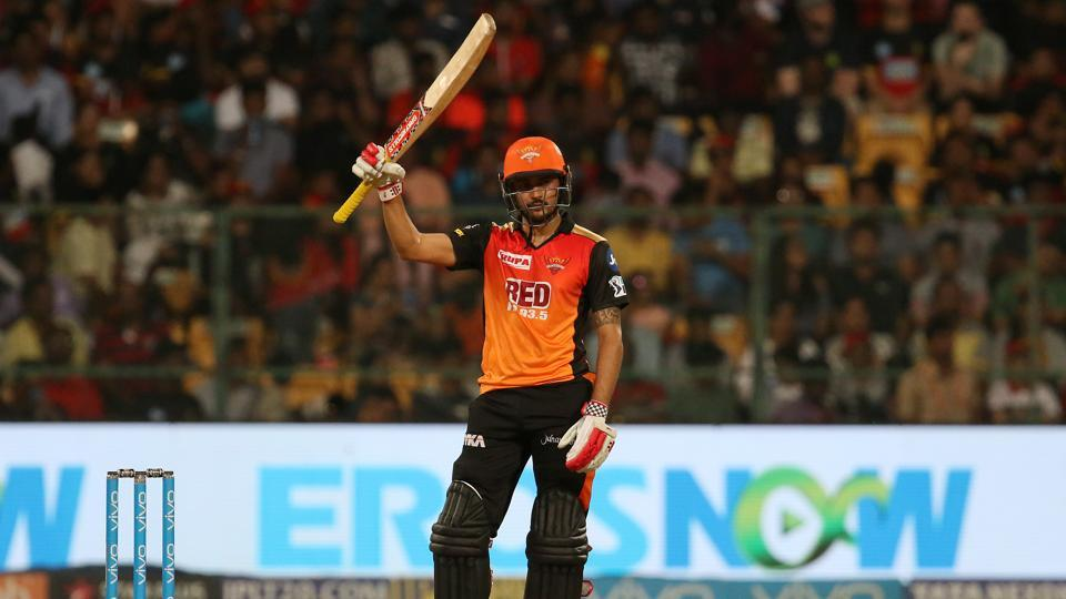 Manish Pandey also scored a fifty to bring SRH within reach of RCB's total. (BCCI)