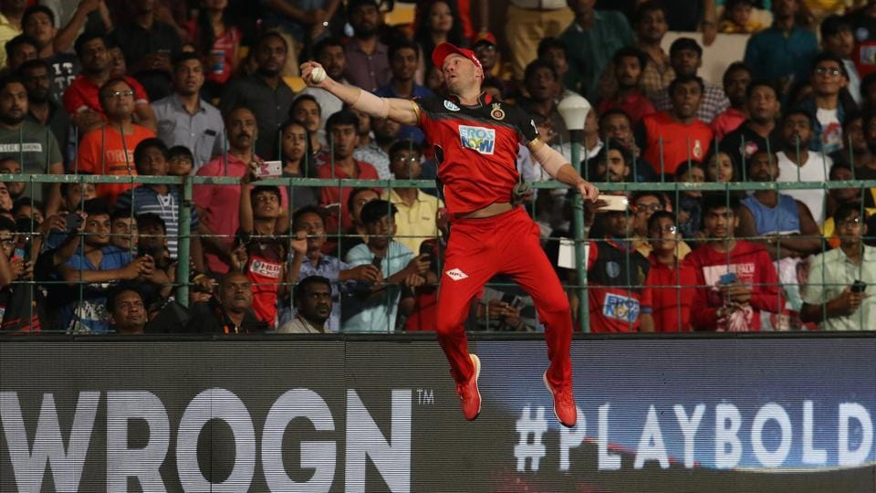 De Villiers' incredible catch to dismiss Alex Hales was one of the biggest talking points of the match. (BCCI)