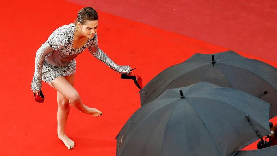 Kristen Stewart, member of the 71st Cannes Film Festival Jury arrives for the screening of the film 'BlacKkKlansman' at the 71st Cannes Film Festival in Cannes, France.  (Eric Gaillard / REUTERS)