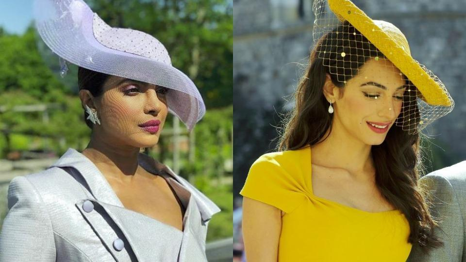 Take A Look At The Hats Priyanka Chopra Amal Clooney And Other Listers Wore To Royal Wedding Instagram
