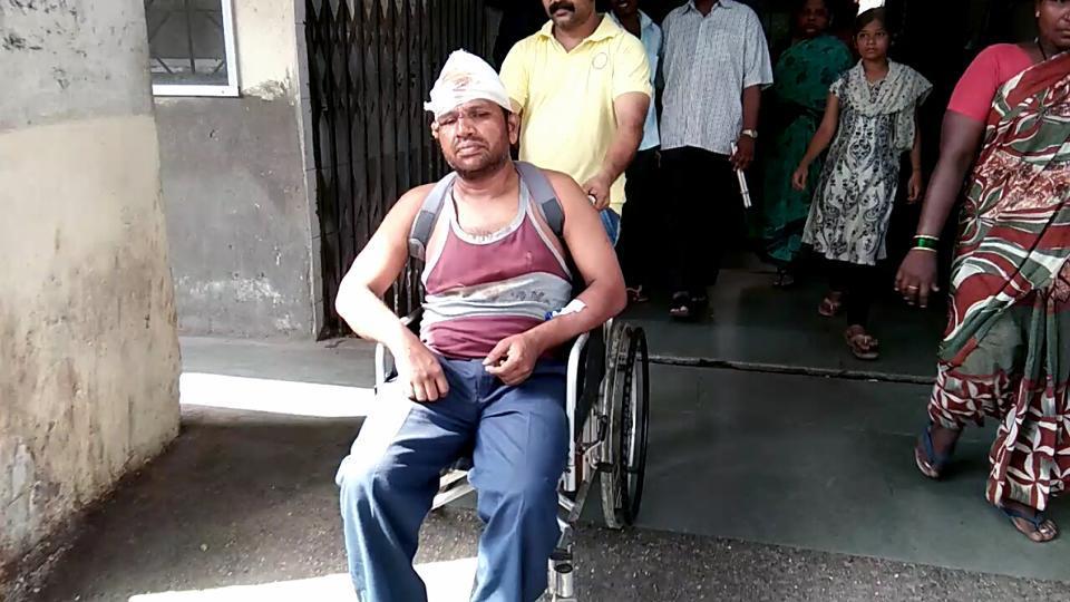 Babu Talar at Rukminibai Hospital in Kalyan on Friday.