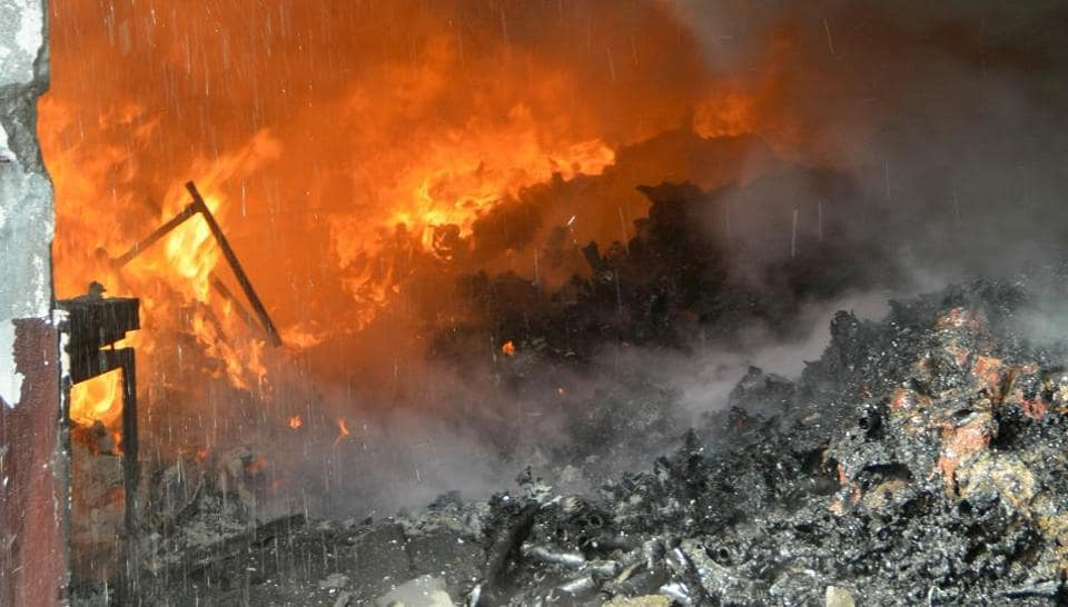 Fire in Ludhiana,Ludhiana hosiery unit,no casualty