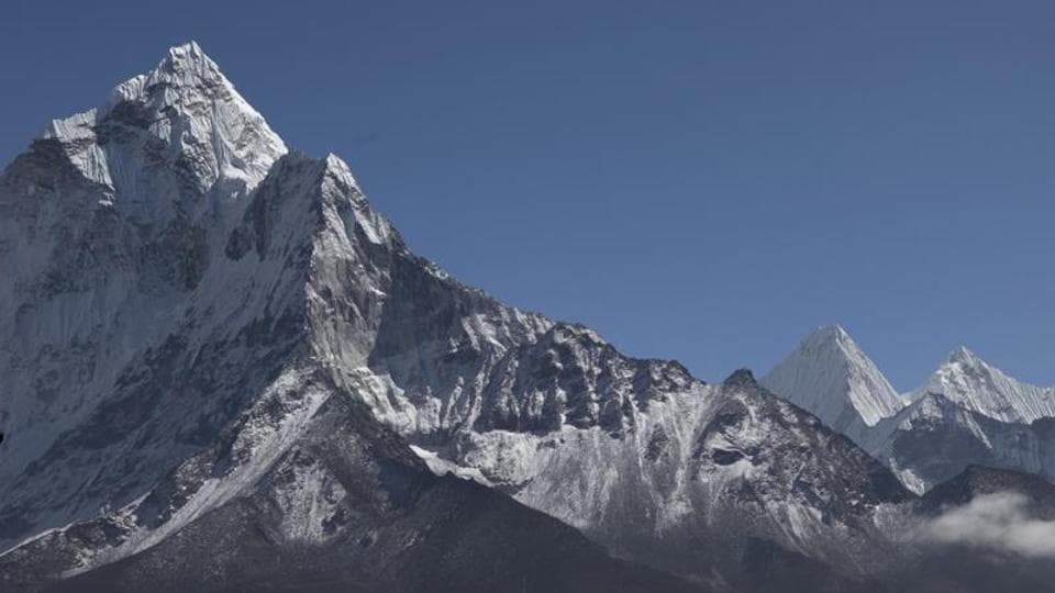 A view of the Mount Everest  in Nepal.