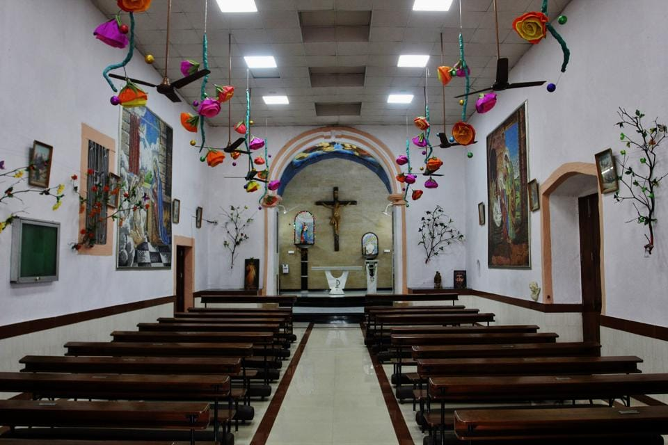This church is still frequented and conducts a mass every month. (PRAFUL GANGURDE/HT PHOTO)